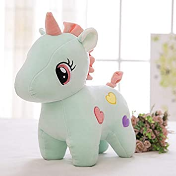 Slv Unicorn Plush Toy Stuffed Animal Pillow Cushion Soft Toys for Baby Kids Medium( Color May Vary)Pack of 1