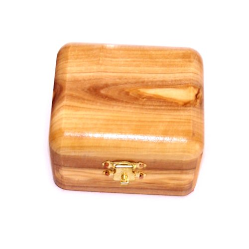 Holy Land Market First Communion Box - Rosary Box - Bethlehem Olive wood (Olive Wood Box)