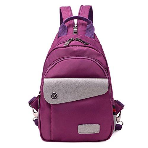 Damas bandoleras,bolso de la lona-Púrpura Púrpura