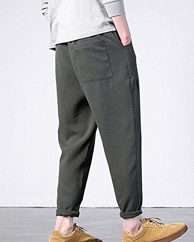 Pants Hommes Baggy Harem Pour Vert Linen Ethnique Casual Vêtements Shifan vTq6w56
