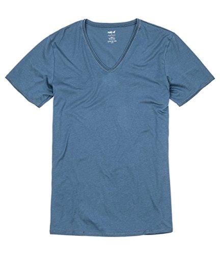Naked Mens Soft Pima Cotton V Neck Tee Shirt