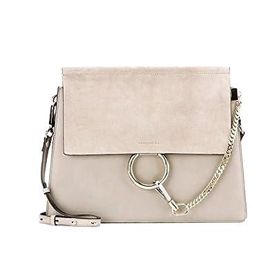 Actlure Women Genuine Leather Crossbody Shoulder Purse Chain Link FY Bag