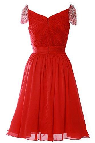 MACloth Women Cap Sleeve Short Ball Gown Evening Formal Prom Dress Wedding Party Plateado