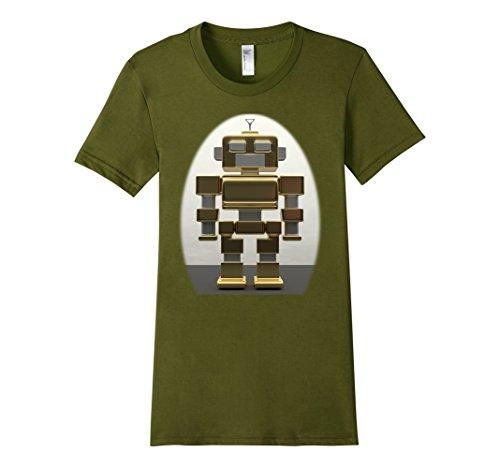 [Women's Robot T Shirt XL Olive] (Female Robot Costumes)