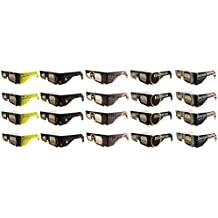 Eclipse/Solar Viewing Glasses - ISO & CE Certified for Safe Solar Viewing- 20pk Assorted- Eye Protection