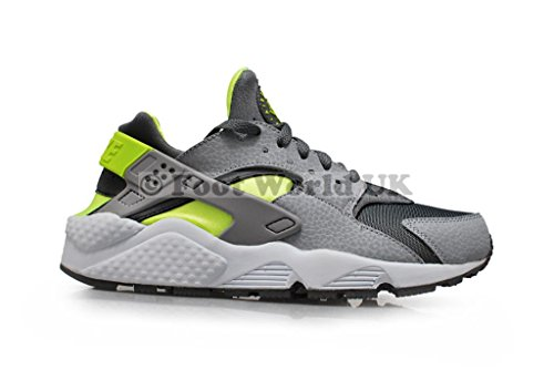 Nike Air Huarache, Scarpe da Ginnastica Uomo cool grey volt wolf grey 070