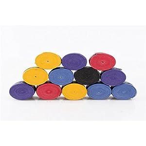 10pcs Anti slip Racket Over Grips Tennis Badminton Racquet Sports Squash Tape (random color))