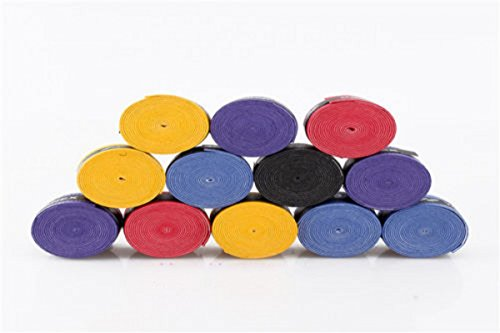 10pcs Anti slip Racket Over Grips Tennis Badminton Racquet Sports Squash Tape (random color))