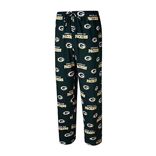 - NFL Team Apparel Green Bay Packers Men's Large All Over Logos Sleep Pajamas Pants - Sleepwear