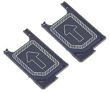 MMOBIEL Soporte Ranura de Bandeja de Tarjeta Nano Sim Repuesto Compatible con Sony Xperia Z3 / Z3 Compact / Z5 Compact Mini D6603 D6653 D5833 und Z5 ...