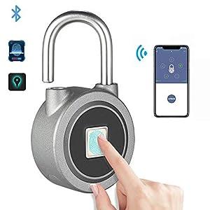 41llS1BBT2L. SS300 DYWLQ Lucchetto per zaino, valigia, porta, blocco intelligente per impronte digitali, Bluetooth/app sblocco senza chiave…
