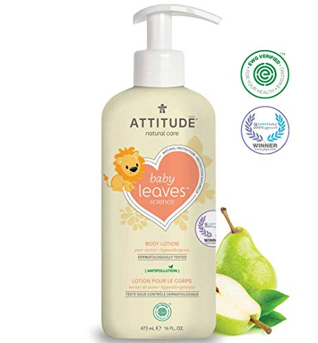 (ATTITUDE Baby Leaves, Hypoallergenic Body Lotion, Pear Nectar, 16 Fluid Ounce )