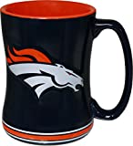 Denver Broncos 15 Ounce Sculpted Logo Relief Coffee Mug