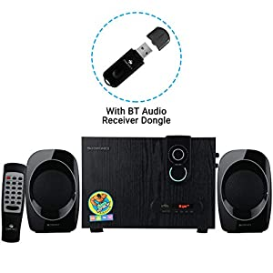 Zebronics Zeb  sw2492 Rucf 2.1 Multi Media Speaker Supporting Bluetooth via dongle , Sd Card, USB Input and FM