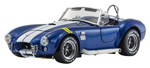 Kyosho 1/18 Scale Diecast - 08045BLY - Shelby Cobra 427 S/C - Blue / Yellow Line
