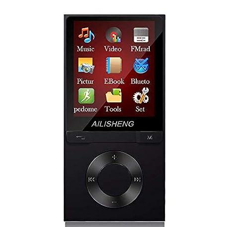Songway 8GB Reproductor MP3 con Bluetooth Reproductor de M/úsica Audio Digital Reproductor de M/úsica con Sonido sin P/érdida Port/átil con Radio FM//Imagen//E-Book Rosado Soporte Expandible hasta 128G