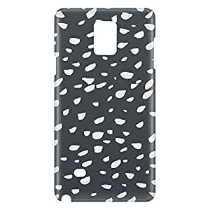 Loud Universe Galaxy Note 5 Confetti Print 3D Wrap Around Case - Black/White