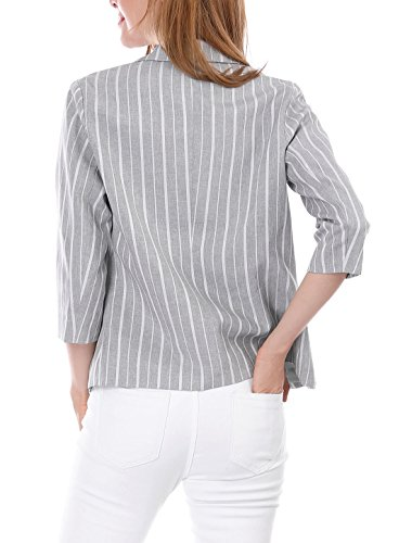 Allegra crant Revers Avant 3 K Ouvert Femmes Blazer Gray ray Manches 4 4raCFq4w