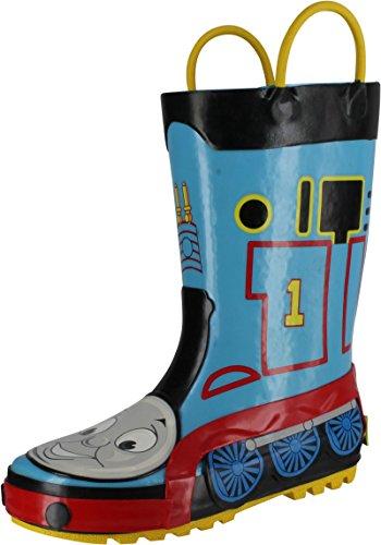 (Western Chief Boys' Character Waterproof Rain Boot, Thomas Blue Engine, 8 Toddler M)