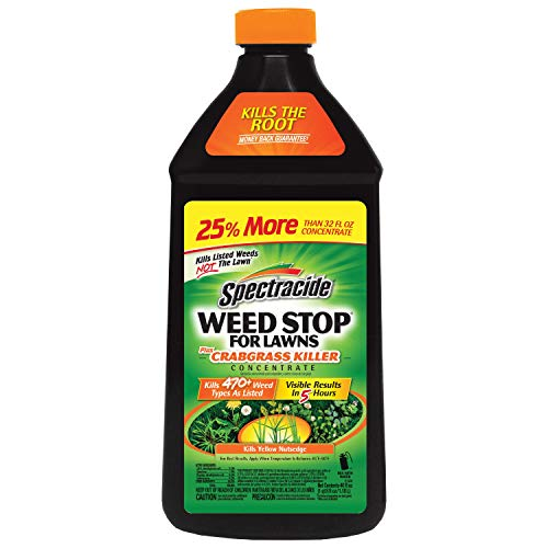 Spectracide Weed Stop For Lawns Plus Crabgrass Killer Concentrate, 40-Ounce (Best Crabgrass Killer Concentrate)