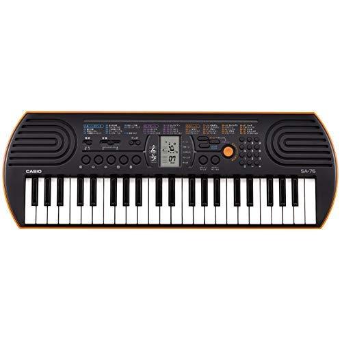 カシオ 電子ミニキーボード 44ミニ鍵盤 SA-76 ブラック&オレンジ