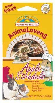- Sunseed AnimaLovens Apple Strudels, 4 Ounces, Treats for Rabbits Guinea Pigs Rats and Hamsters