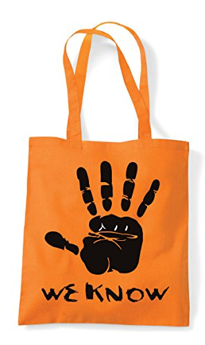 Statement Orange Know Tote Gaming Gamer We Bag Hand Cult Shopper Plain vdYCq