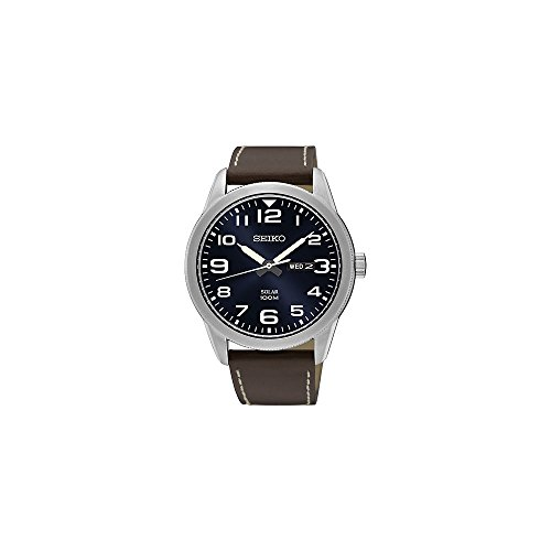 Seiko Solar Dark Blue Dial Mens Watch (Solar Watch Blue Dial)