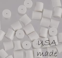 Earring Backs White Safety for Fish Hook Earrings Rubber Protectors Stoppers U S A Made 3mm (Qty=100)