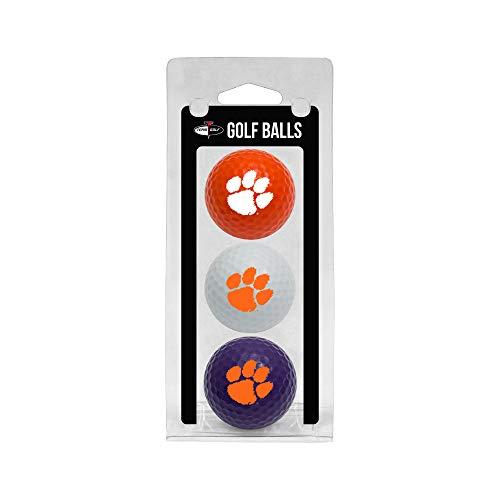 Team Golf NCAA Clemson Tigers Regulation Size Golf Balls, 3 Pack, Full Color Durable Team Imprint