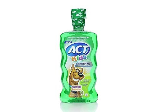 ACT Kids Ant-Cavity Mouthwash, Scooby Doo Kiwi Watermelon, 16.9 Ounce by ACT Chattem Inc.