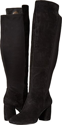 Nine West Women's Kerianna Knee High Boot, Black Suede, 7 Medium US Suede Knee Boot