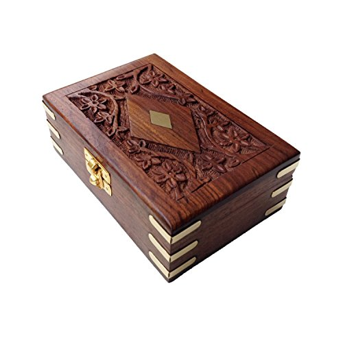 Jaipuri Velvet (Jaipuri Handmade Velvet Inside Rectangle Wood Jewelry Box)