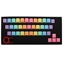 uxcell® ABS 37 Key Caps Light Purple w Keycap Puller Rainbow for Mechanical Keyboard Desktop PC