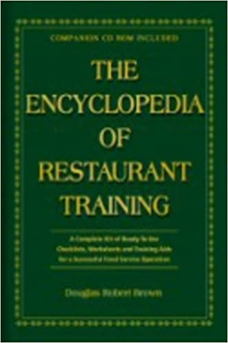 The encyclopedia of restaurant training a complete ready to use the encyclopedia of restaurant training a complete ready to use training program for all positions in the food service industry with companion cd rom fandeluxe Choice Image