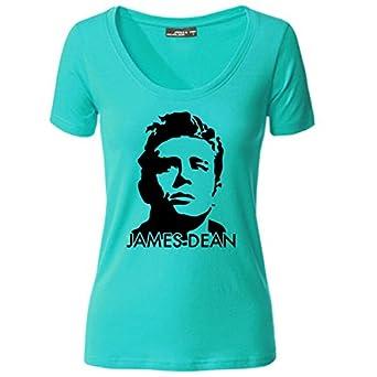 dc3eb8107591 Damen T-Shirt James Dean Giganten Hollywood Life Shirt Tee S-3XL NEU,  Farbe türkis Größe M  Amazon.de  Bekleidung