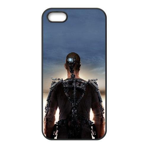 Elysium1 coque iPhone 5 5S cellulaire cas coque de téléphone cas téléphone cellulaire noir couvercle EOKXLLNCD23490