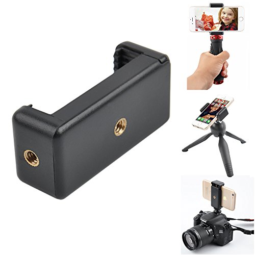 Adjustable Stable Cell Phone Camera Tripod Mount - Smartphone Tripod Adapter - Fits Almost Any Phone - Steel Bolt Locking Mechanism (Not Spring) Phone Samsung Galaxy Sony Etc