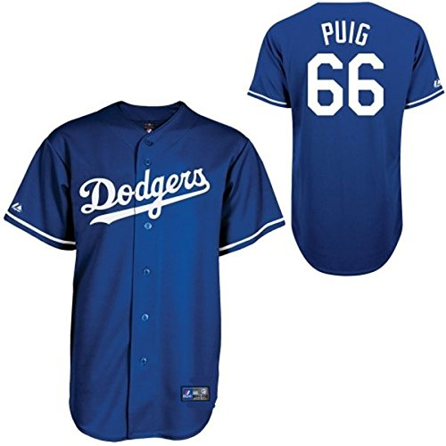 Yasiel Puig #66 Los Angeles Dodgers MLB Youth Baseball Jersey - Blue (Youth Small 8) (Authentic Blue Baseball Jersey)