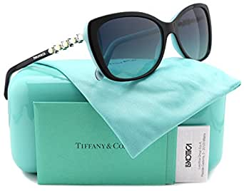 Tiffany & Co. TF4103HB Sunglasses Black/Blue w/Blue Gradient (8055/9S) TF 4103 80559S 56mm Authentic