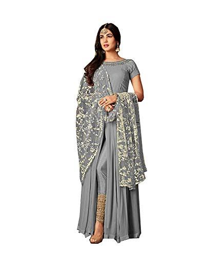 stylishfashion Bollywood Designer Pakistani/Indian Wedding Partywear Salwar Kameez Indian Dress Ready to Wear Salwar Suit (Sky Blue, XS-36)