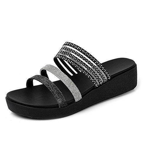 El diamante sandalias de plataforma en el verano/Moda exterior para usar pendientes y drag femenino A