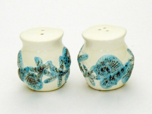 Ceramic Seashell Shell Design Salt & Pepper Set Small At Just 2 Inches ()