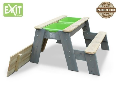 Matschtisch Holz - EXIT Aksent Sand und Wassertisch mit 1 Bank