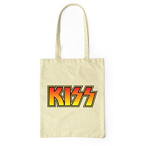 Lamaglieria Bag Shopping Algodón Natural Tela Kiss Bolsa De Tote Logo 100 Coloured 7xpr7Hqw0