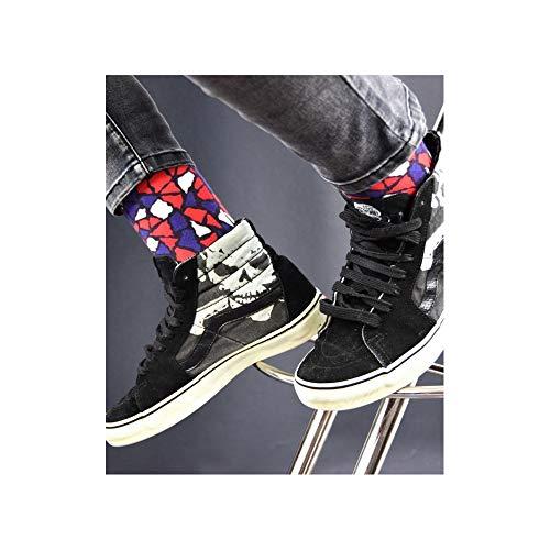 Achile Imprimées En Chaussettes Noir Coton Motif Mosaïque 8U8AqSw