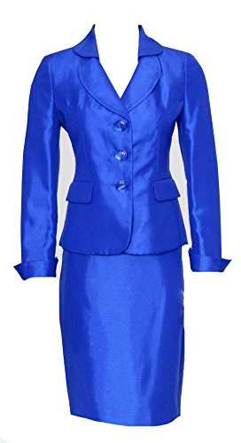 [AVDA Girls' International Interview Pageant Suits Miss Ruffles Outfits 8 Blue] (Pageant Suits)
