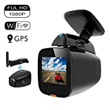 Matego Dash Cam 1080P WiFi Dash Camera for Car Dashboard Camera Mini Front Driving Recorder with GPS, WDR, G-Sensor, Night Vision, Parking Monitor, Loop Recording and Motion Detection 150°Wide Angle