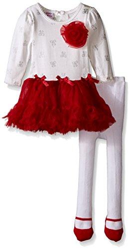 Blueberi Boulevard Dress - Blueberi Boulevard Baby-Girls Tutu Dress with Tights, Ivory, 6-9 Months