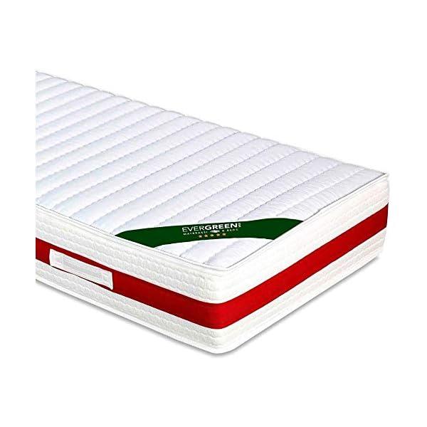 EVERGREENWEB - Materasso Singolo 80x190 in Memory Foam Alto 22 cm con Cuscino Cervicale Gratis Lastra Massaggiante… 2 spesavip